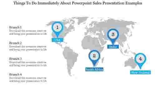 Worldmap Powerpoint Sales Presentation Examples