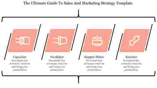 Sales and marketing strategy template-Layered vertical