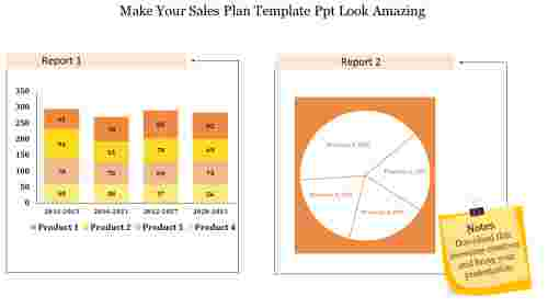 sales plan template PPT
