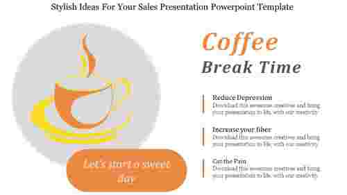 Free Sales Presentation Powerpoint Template - Coffee break