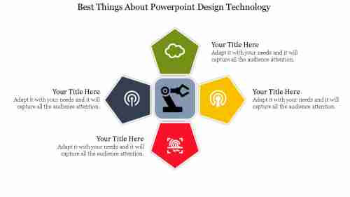 Pentagon Model Powerpoint Design Technology