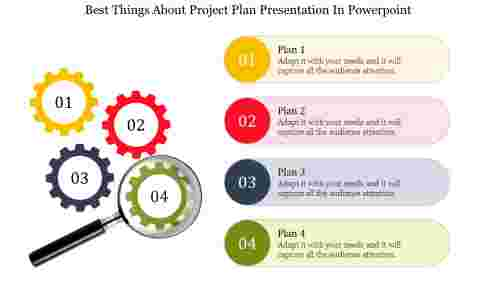 Project Plan Presentation In Powerpoint-gear wheel model