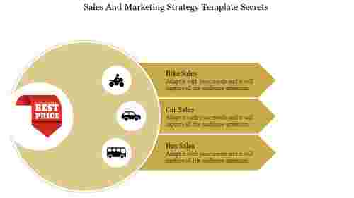 Sales And Marketing Strategy Template with Icons