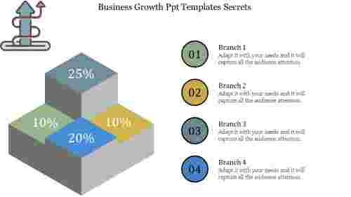 Business growth ppt templates in Cube Shape