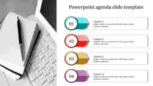 Best powerpoint agenda slide template