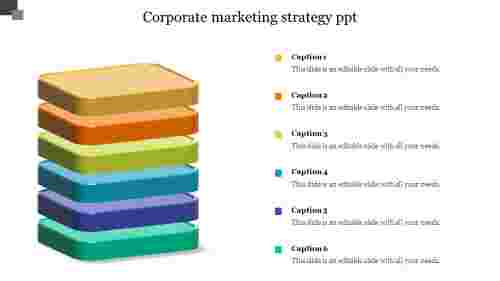 Corporate Marketing Strategy Powerpoint - Stack Model