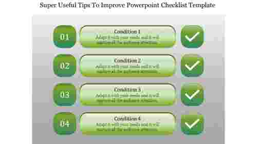 Methods of PowerPoint checklist template