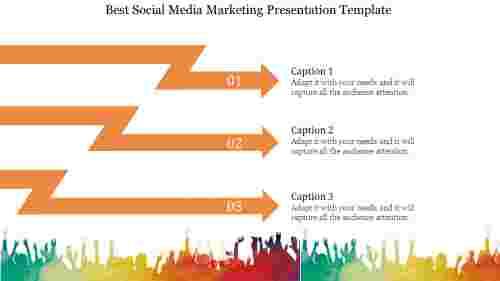 Arrow Design Social Media Marketing Presentation Template