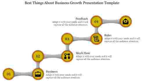 Stepwise business growth presentation template