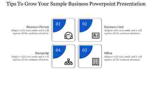 sample business powerpoint presentation with rectangle shapes