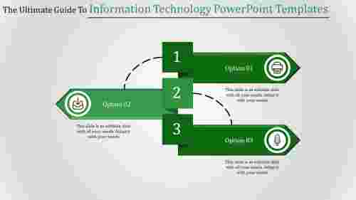 Segmented information technology PowerPoint templates