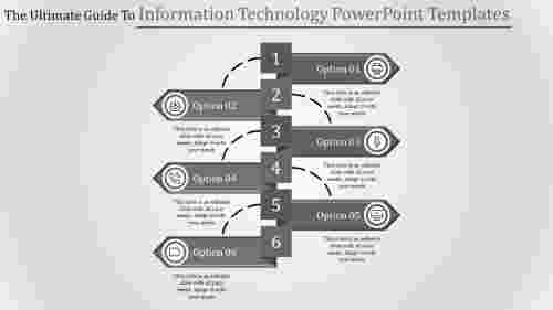 Arrow model information technology PowerPoint templates