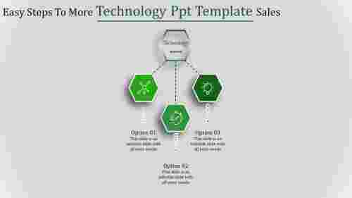 technology ppt template-Easy Steps To More Technology Ppt Template Sales-3-Green