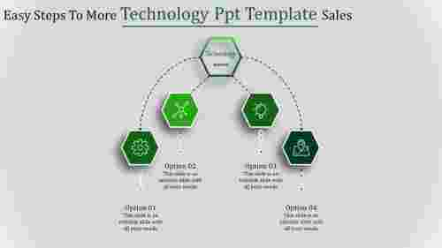 technology ppt template-Easy Steps To More Technology Ppt Template Sales-4-Green