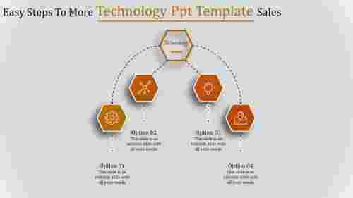 technology ppt template-Easy Steps To More Technology Ppt Template Sales-4-Orange