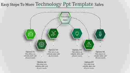 technology ppt template-Easy Steps To More Technology Ppt Template Sales-6-Green