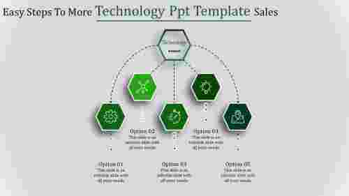 technology ppt template-Easy Steps To More Technology Ppt Template Sales-Green