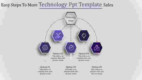 technology ppt template-Easy Steps To More Technology Ppt Template Sales-Purple