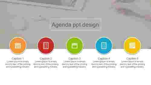 circle model agenda PPT design