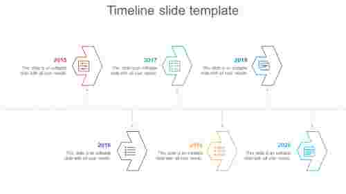 Neat timeline slide template