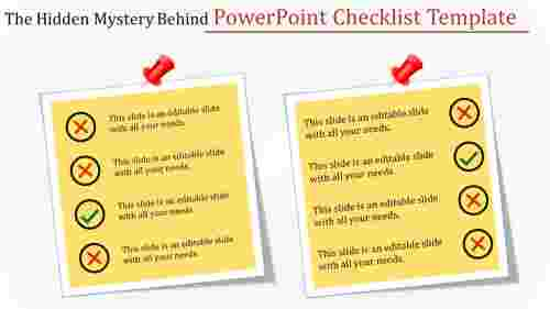 PowerPoint checklist template-square model