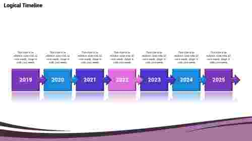 Patterned timeline slide template