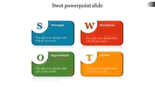 Best Swot PowerPoint slide template