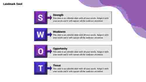 swot powerpoint slide-Landmark -Swot