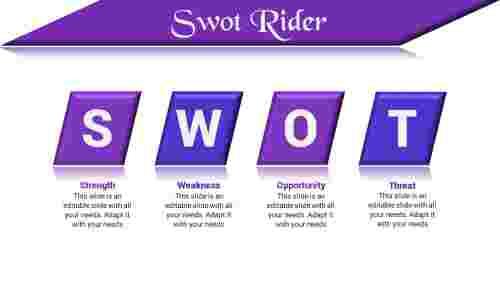 effective SWOT powerpoint slide