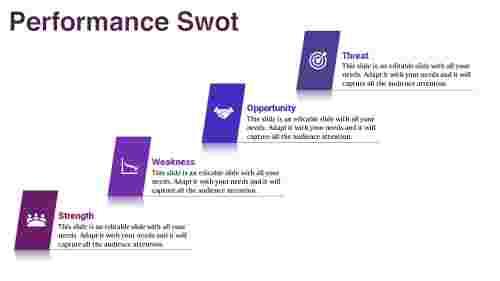 SWOT powerpoint slide-zigzag model