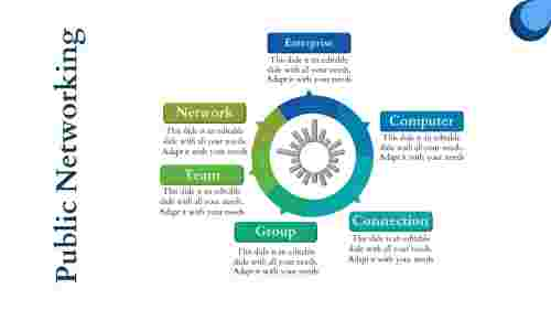 Cloud Networking PPT donut shape