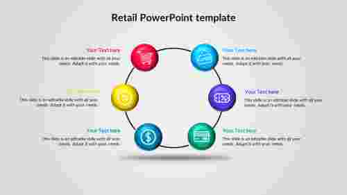 Process model retail PowerPoint template