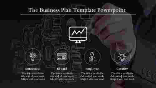 Dark Background Business Plan Template PowerPoint
