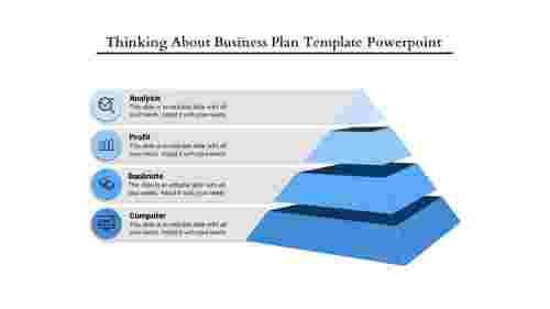 business plan template powerpoint - pyramid Model