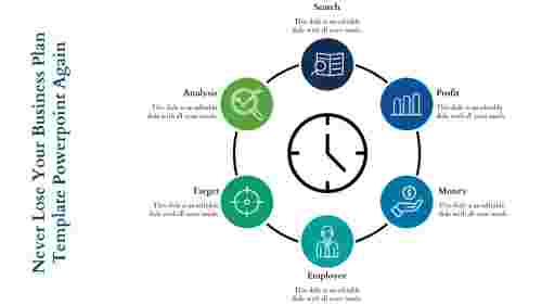 business plan template powerpoint - Clock Model