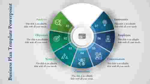 Business Plan Template PowerPoint – Lucky Wheel Model