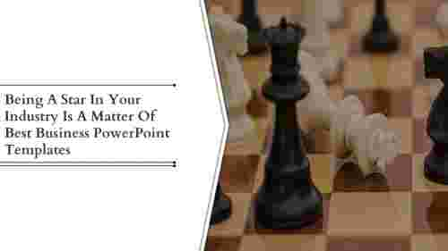 best business powerpoint templates- Chess Board Model