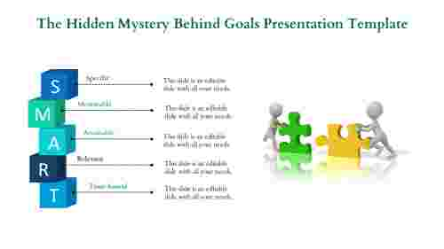 Goals presentation template - Vertical Cubes