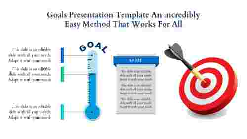 Goals Presentation Template With Dart Board