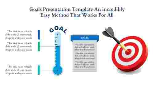 Goals Presentation Template With Dart Board