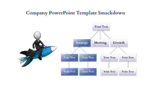 company powerpoint template-hierarchy view