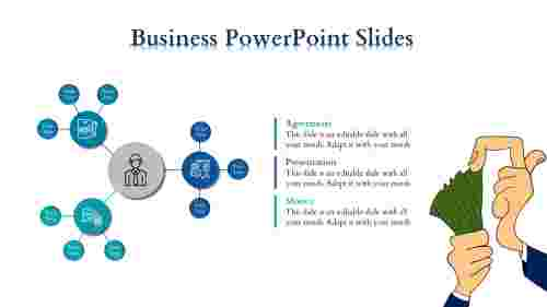 Business Powerpoint Slides - Gathered Circles