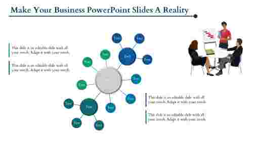 Business Powerpoint Slides in Prerective Grouped Circles