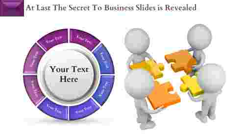Puzzle Model Business Slides PowerPoint Template