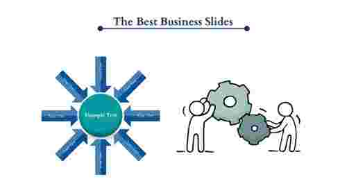Gear Wheel Model Business Slides PowerPoint Template