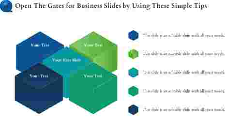 Cube Model Business Slides PowerPoint Template