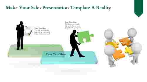 Mixed Shape Sales Presentation Template