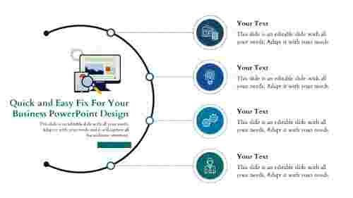 business powerpoint design- Half Circle Model