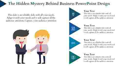 business powerpoint design- Cartoon Model
