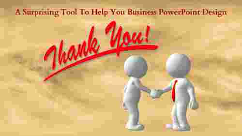 business powerpoint design- Thank you slide